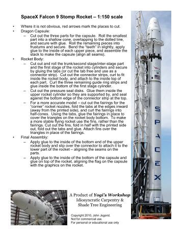 pdf falcon 9 user guide 28 pages why not build rockets out of