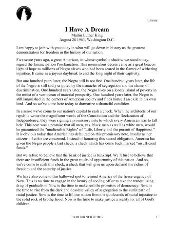 martin luther king american dream essay