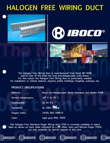 HALOGEN FREE WIRING DUCT - Iboco