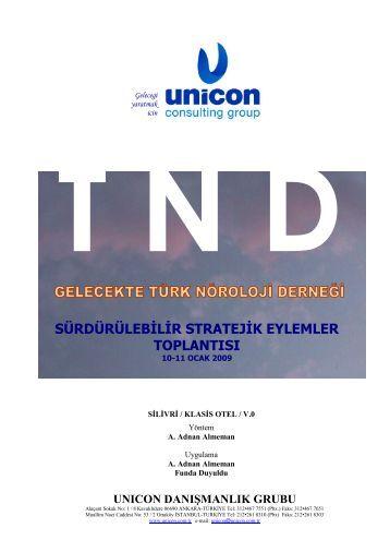 sürdürülebđlđr stratejđk eylemler toplantısı - Türk Nöroloji Derneği