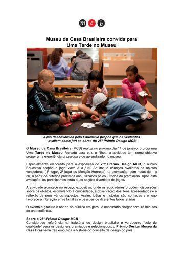 Museu da Casa Brasileira convida para Uma Tarde no Museu