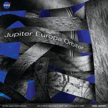 Sample Table of Contents for Jupiter Europa Orbiter mission (2008)