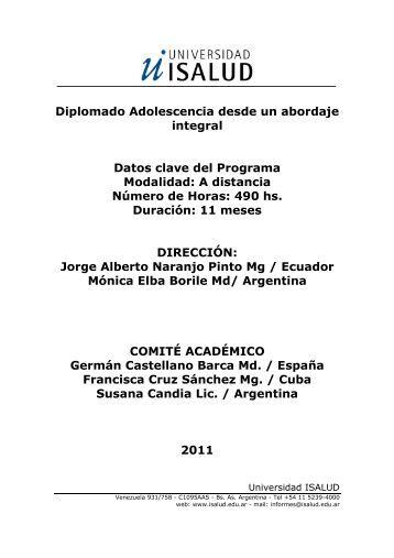 Adolescencia desde un abordaje integral 2012 - Sasia