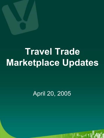 Travel Trade Marketplace Updates - Tourism Vancouver