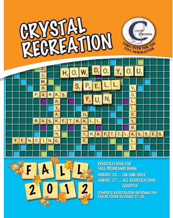 Recreation Brochure - City of Crystal