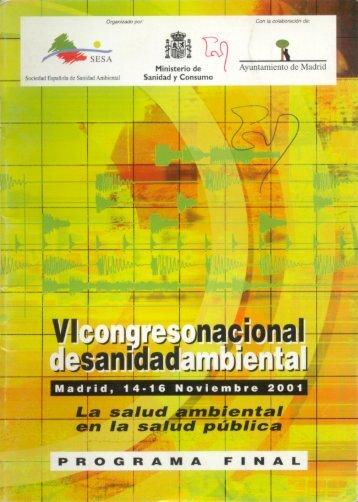 VI Congreso Nacional de Sanidad Ambiental