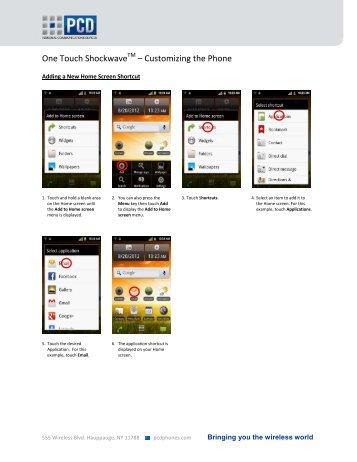 One Touch ShockwaveTM – Customizing the Phone - US Cellular