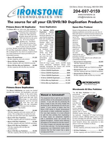 The source for all your CD/DVD/BD Duplication Products