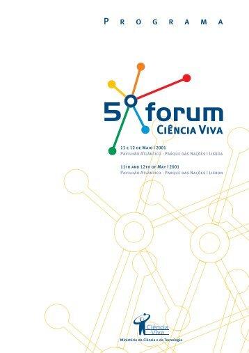 Programa / Revista do 5º Fórum - Ciência Viva