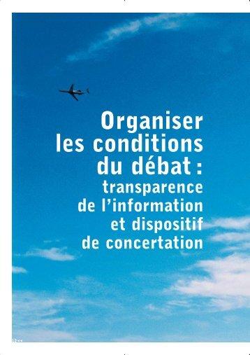 Organiser les conditions du débat : - Acnusa