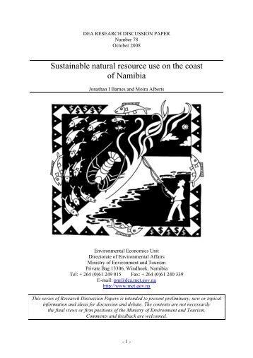 Sustainable natural resource use on the coast of ... - DLIST Benguela