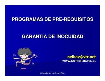 programas de pre-requisitos garantía de inocuidad - nutriterapia