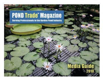 POND Trade Magazine is independently owned. Our sole focus.