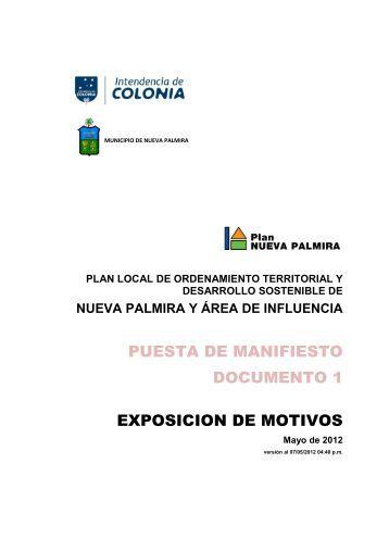 (1 EXPOSICIÓN DE MOTIVOS PLAN NP) - Intendencia de Colonia