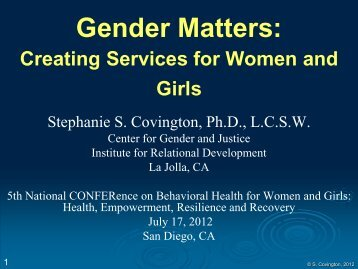 Gender Matters: Creating Services for Women and Girls
