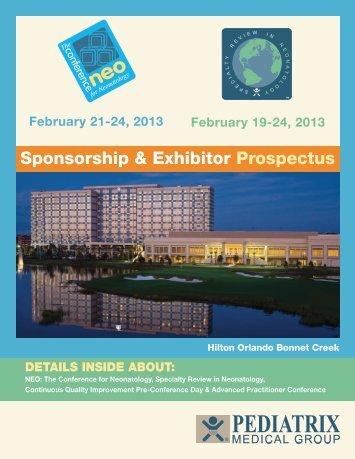 Sponsorship & Exhibitor Prospectus - Neo Conference