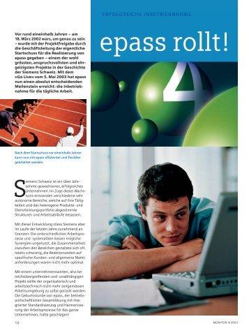 Monitor Inhalt - Siemens Schweiz AG