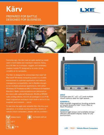 Download VX8 Kärv Datasheet. - RMS Omega Technologies
