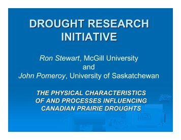 The Physical Characteristics of and Processes Influencing Canadian ...