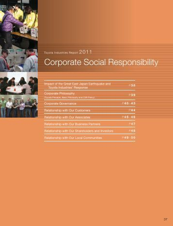 toyota corporate social responsibility Ethics and social responsibility  in addition to these areas, toyota works to actively promote corporate social contribution activities using.