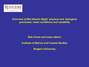 Overview of Mid Atlantic Bight physical and biological processes ...