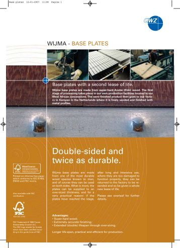 Base plates - Wijma