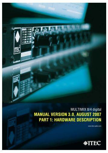 ITEC-MULTIMIX 8/4 digital - Hardware