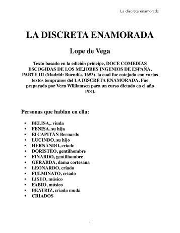 La discreta enamorada - Association for Hispanic Classical Theater