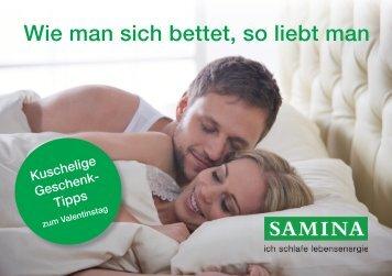 SAMINA Schlaftipps - Wie man sich bettet, so liebt man