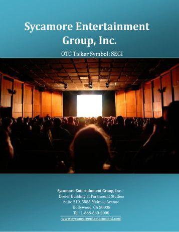 Corporate Presentation - Sycamore Entertainment Group Inc OTCMKTS:SEGI