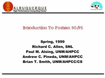 fortran 95 handbook complete iso ansi reference