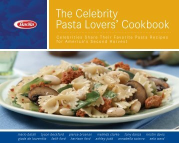 The Celebrity Pasta Lovers' Cookbook - DDV Culinary