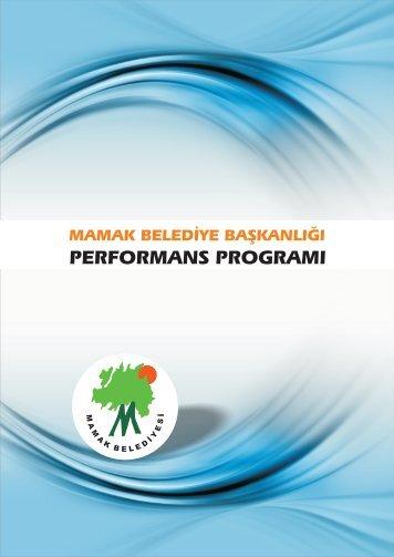 performans hedefi tablosu - Mamak Belediye Başkanlığı