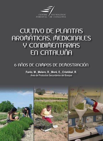 cultivo de plantas aromáticas, medicinales y condimentarias ... - CTFC
