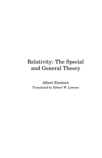 the special theory of relativity bohm pdf free