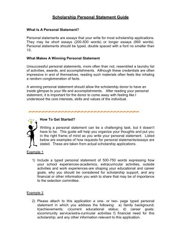 How to write personal essay for scholarships
