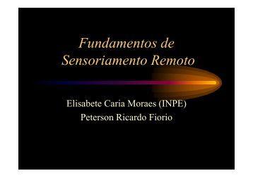 Fundamentos de Sensoriamento Remoto - LEB/ESALQ/USP