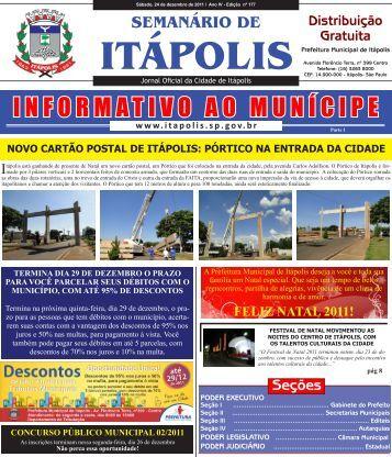 INFORMATIVO AO MUNÍCIPE - Prefeitura Municipal de Itápolis