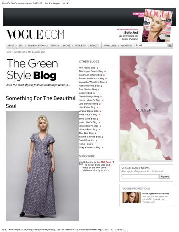 Beautiful Soul's autumn/winter 2011-12 collection (Vogue.com UK)