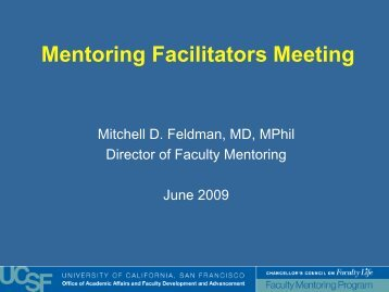 Mentoring Facilitators Meeting - Academic Affairs - University of ...