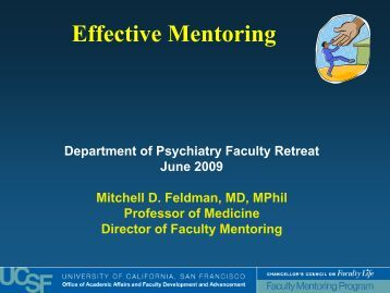 Mentoring is - Academic Affairs - University of California, San ...
