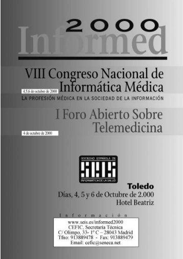 viii congreso nacional de informática médica - Sociedad Española ...