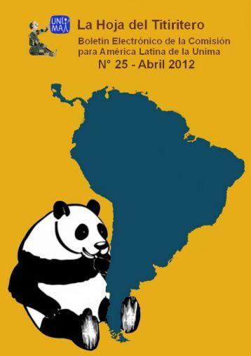 Año 9 - Abril 2012 - La Hoja del Titiritero