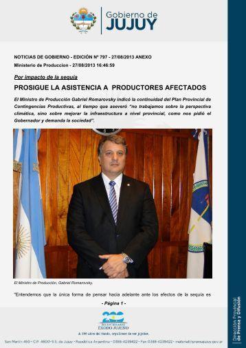 prosigue la asistencia a productores afectados - Dirección de Prensa