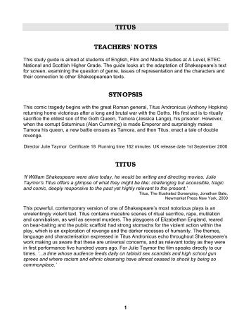 The Lorax study notes  Film Education