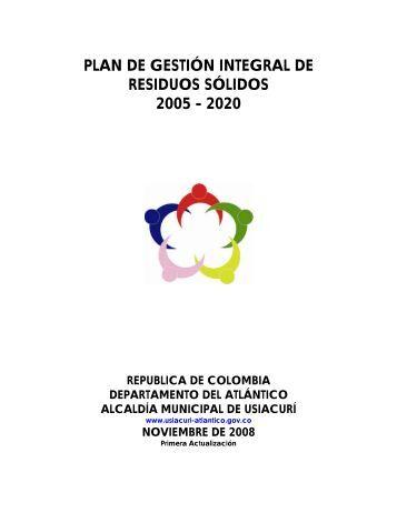 PLAN DE GESTIN INTEGRAL DE RESIDUOS SLIDOS - Usiacurí
