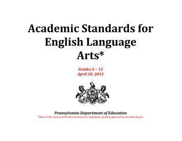 Pa academic writing standards