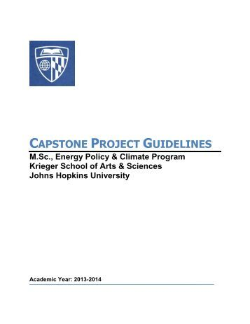 capstone project guidelines The materials science and engineering m s capstone project provides an  opportunity for  guidelines as required for an ms or phd research thesis.