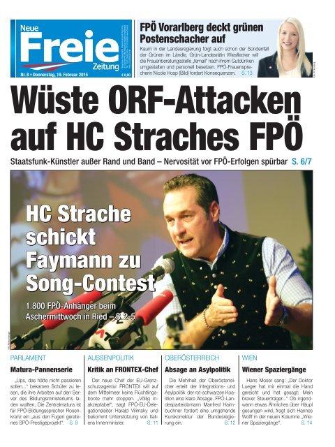 Wüste ORF-Attacken auf HC Straches FPÖ