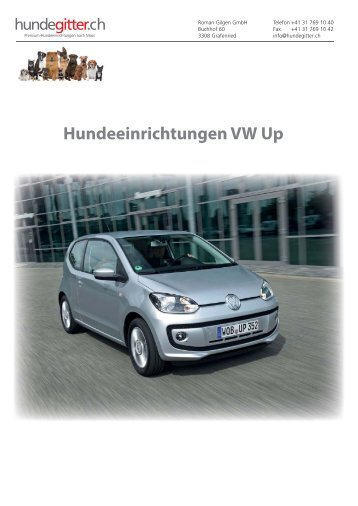 VW Up Hundeeinrichtungen